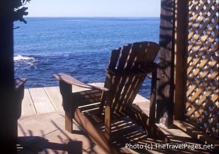 Chair at Jake's Hotel in Treasure Beach, Jamaica