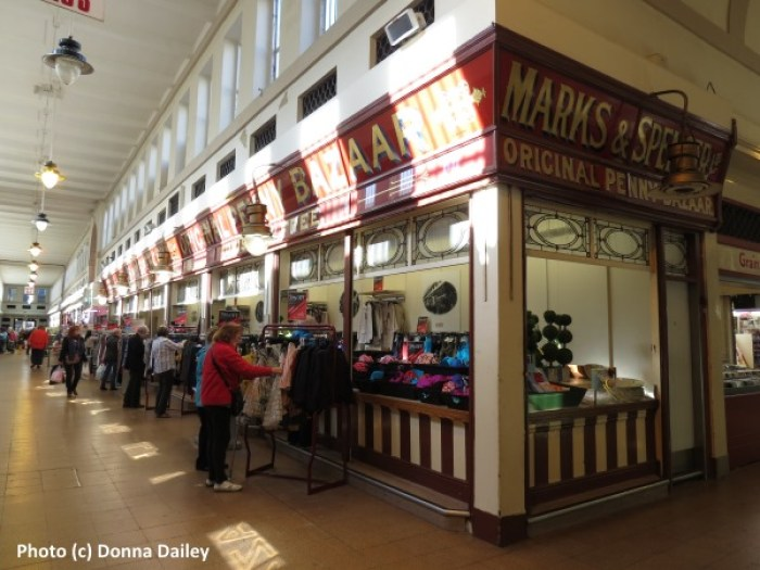 The smallest Marks and Spencer's store in the world, seen on a Newcastle city walking tour by The Travel Pages