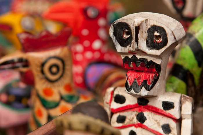 Day of the Dead figure for sale at the market in Chichicastenango, Guatemala