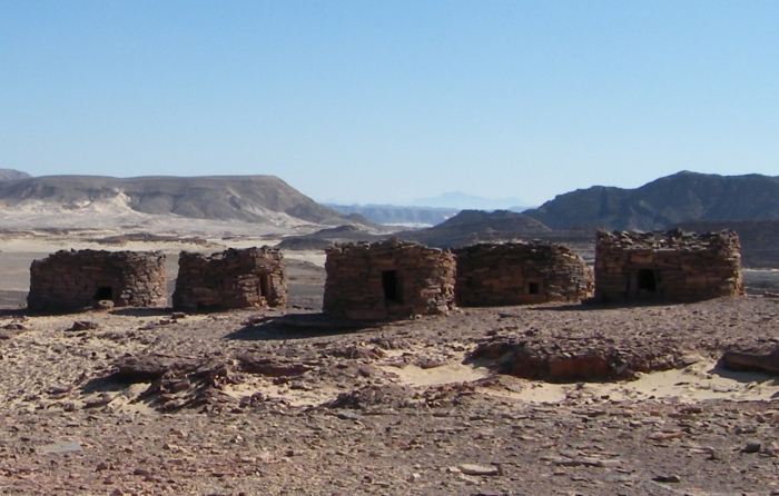 Nawami Burial Tombs in the Sinai Desert in Egypt