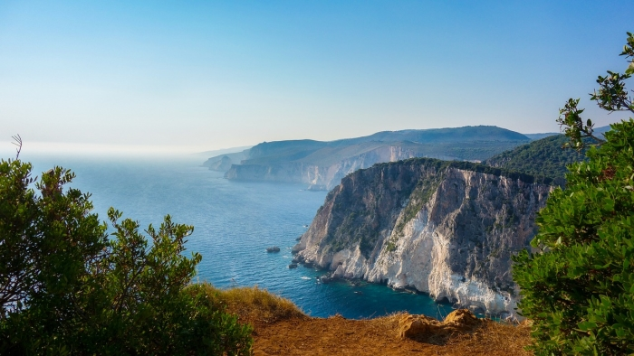 Scenic view of the landscape on Zakynthos