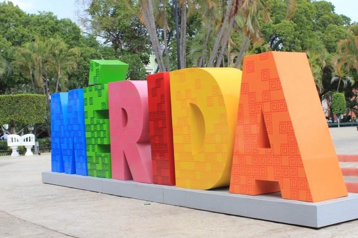 Sign saying Merida in Merida, Yucatan, Mexico