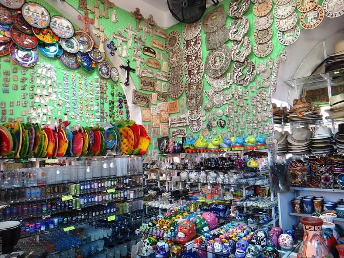 A souvenir shop in Merida, Yucatan, Mexico
