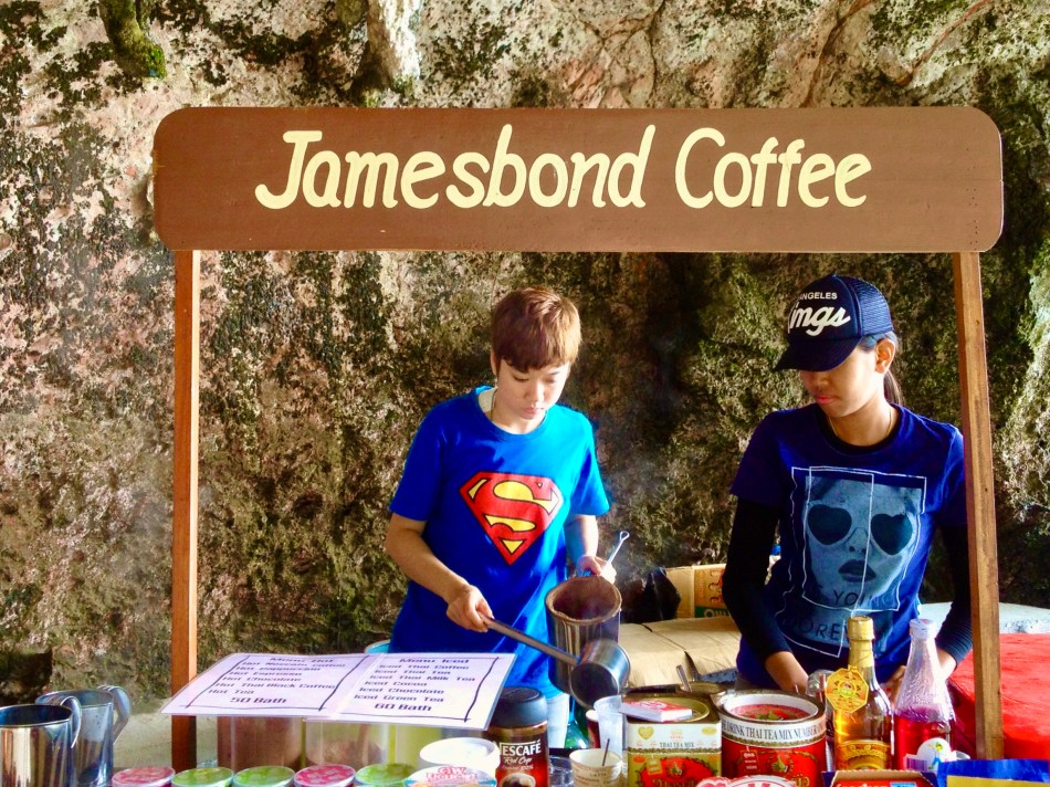 James Bond Coffee Stand on James Bond Island