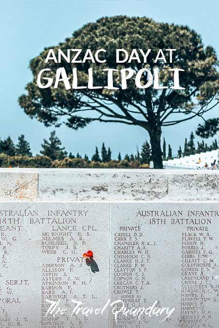 The names of fallen soldiers enscripted into the memorials at Gallipoli, Turkey