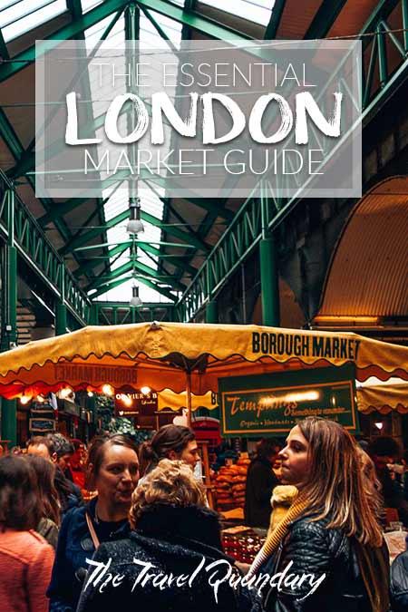 Crowds at Borough Market, London, United Kingdom