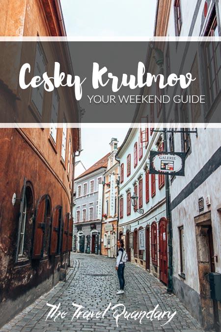Pin to Pinterest: Wandering fairytown alleys during a weekend in Cesky Krumlov
