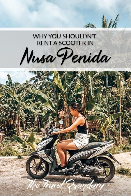 Pin Photo: Jasmine practices riding a scooter on Nusa Penida, Indonesia