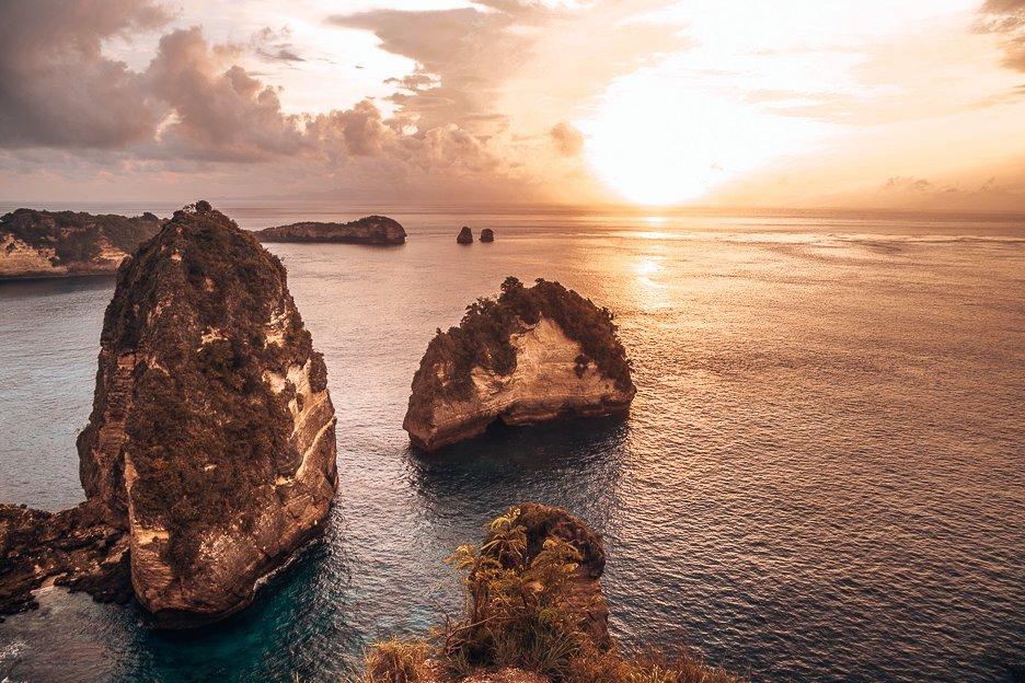 Sunrise over Thousand Islands, Nusa Penida, Bali Gallery
