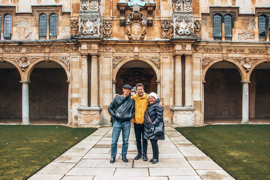 Bevan with his parents exploring Oxford, United Kingdom - Travelling with Parents