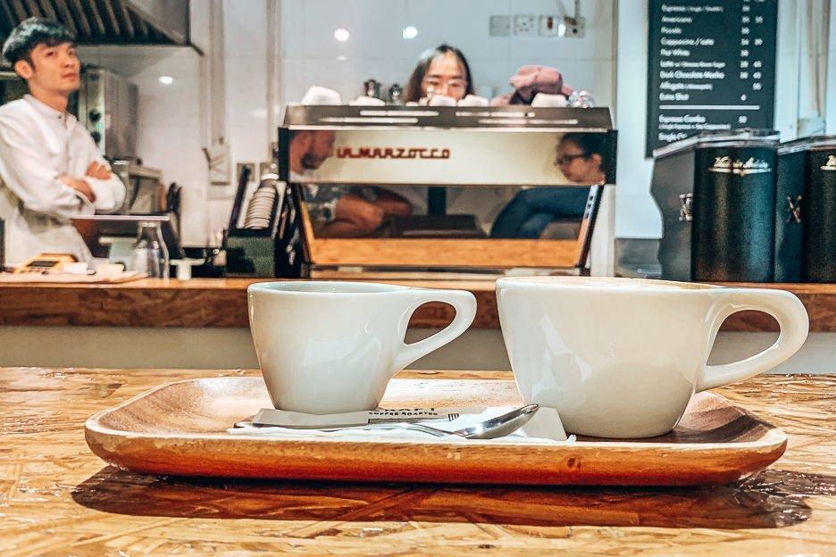 The espresso combo at Craft Coffee Roaster, Kowloon, Hong Kong