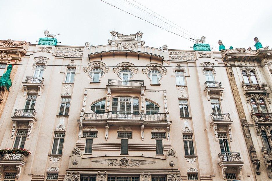 Examples of Art Nouveau in Riga, Latvia