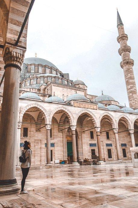 Admiring Suleymaniye Mosque - Istanbul City Guide, Turkey