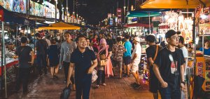 Crowds at Jalan Alor Street Food Night Market