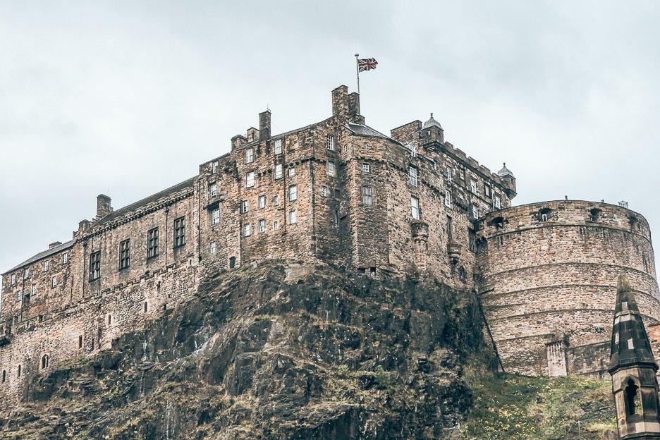 Edinburgh Castle on the hill, Edinburgh
