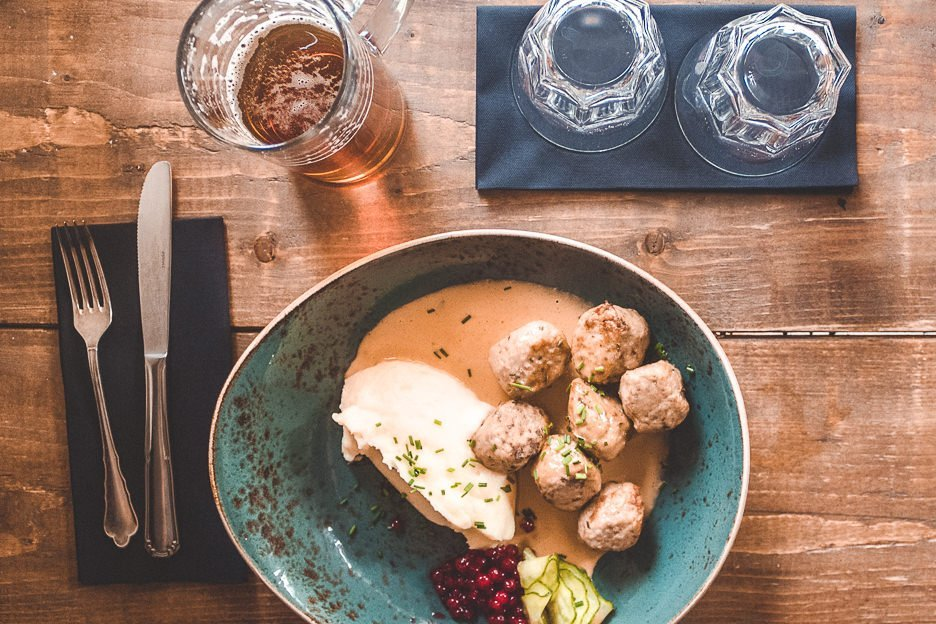 Traditional Swedish Meatballs at Meatballs For the People, Stockholm Sweden