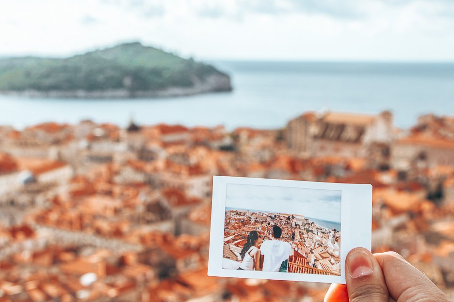 Polaroid memories in Dubrovnik, Croatia - First Trip