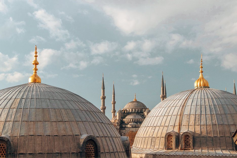 View of the domes from the Hagia Sofia Mseum - Istanbul City Guide, Turkey