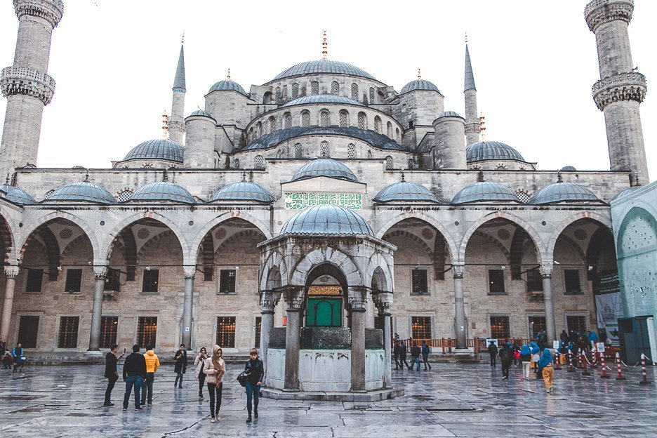 Courtyard of The Blue Mosque - Istanbul City Guide, Turkey