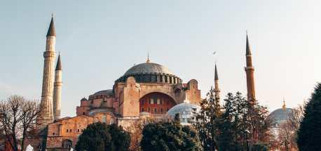 The impressive Hagia Sofia Museum in Istanbul