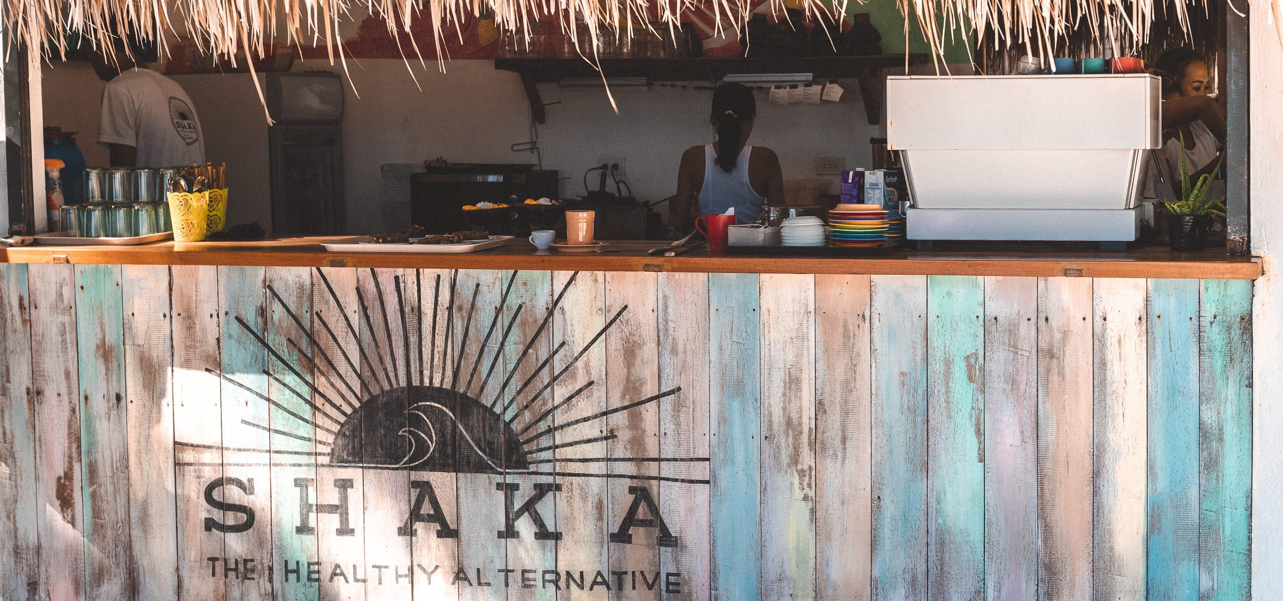 Counter at Shaka Cafe, one of the best cafes in Siargao Island