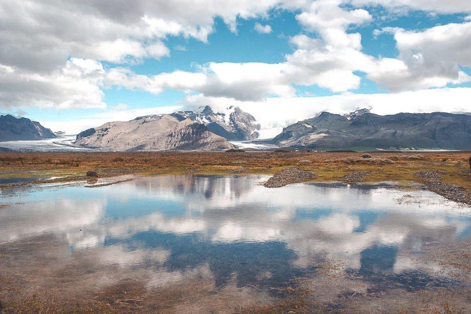 Vatnajökull reflecting in a lake, Iceland Gallery
