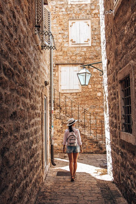 Strolling through the streets of Budva, Montenegro