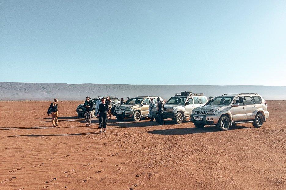 4WDs in the Sahara Desert, Morocco