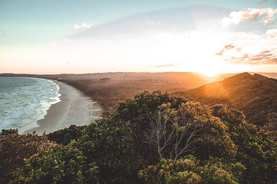Travel Photography | Sunrise over Tallow Beach, Byron Bay, NSW
