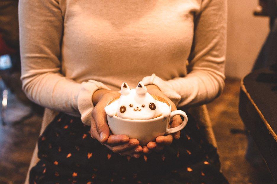 A pikachu 3D Latte Art cafe mocha at Reissue Cafe Harajuku | Tokyo Coffee Guide