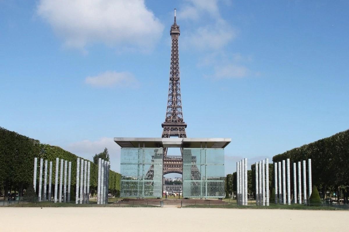 The Eiffel Tower Paris from Champs de Mars