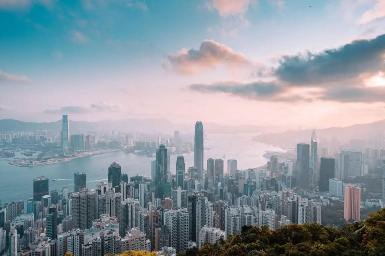 Hong Kong city skyline