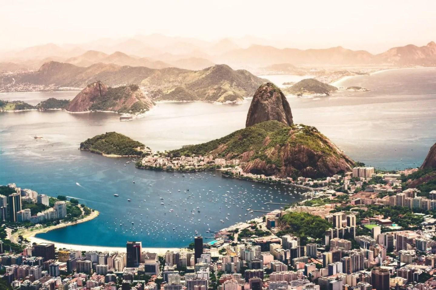 Picture of the bay of Rio de Janeiro, Brazil