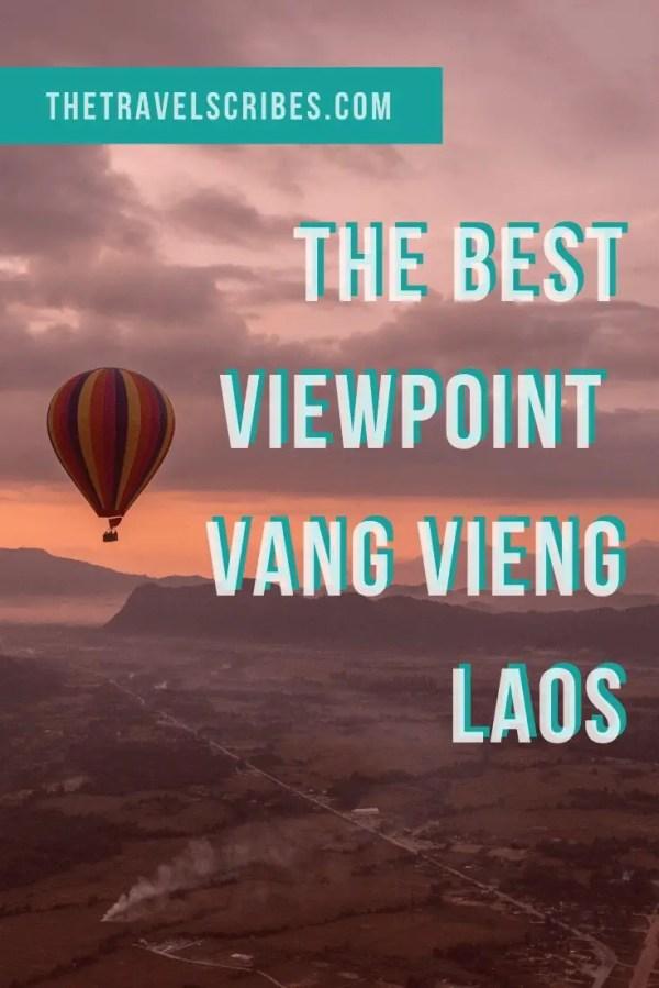 The best Vang Vieng viewpoint Pinterest Pin