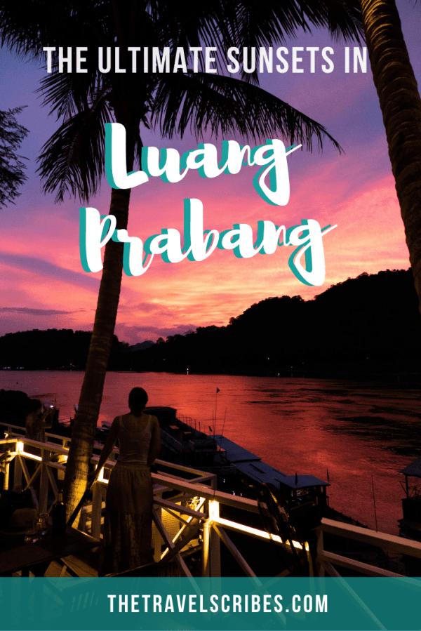 Luang Prabang sunsets Pinterest Pin