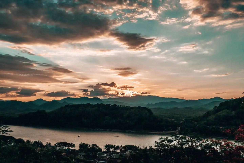 Mount Phousi - sunset Luang Prabang