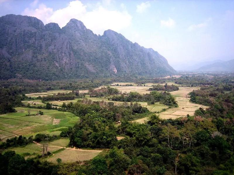 Pha Poak viewpoint near Vang Vieng Laos