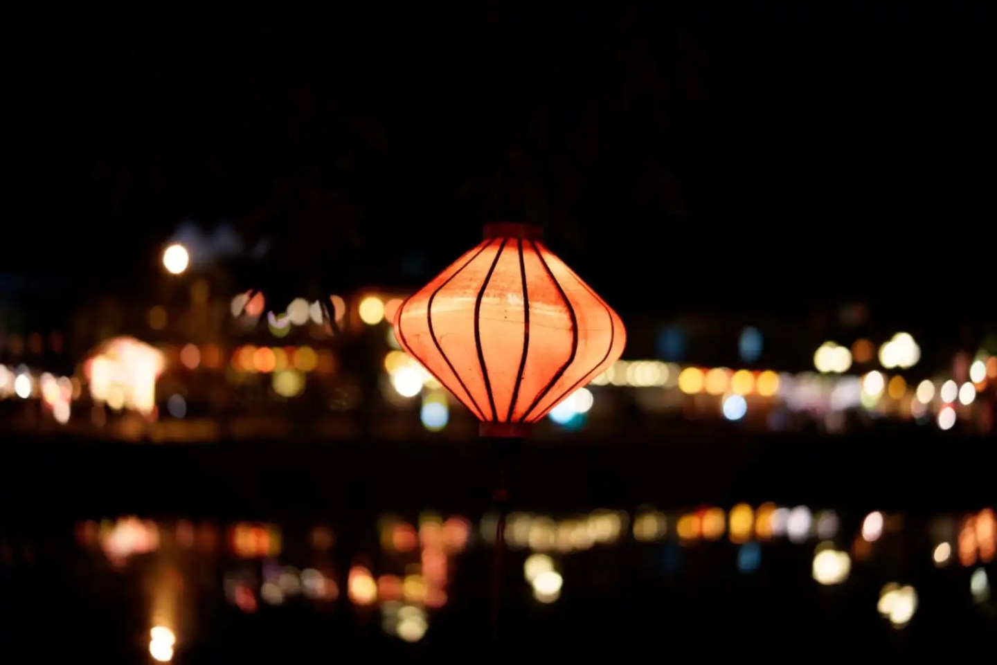 Lanterns at night in Hoi An Vietnam