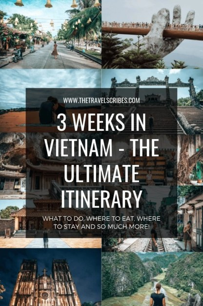 Pinterest Graphic - Vietnam 3 week itinerary (1)