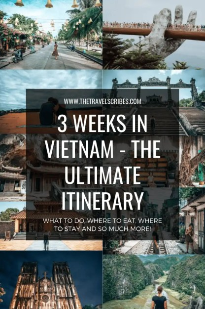 Pinterest Graphic - Vietnam 3 week itinerary (1)