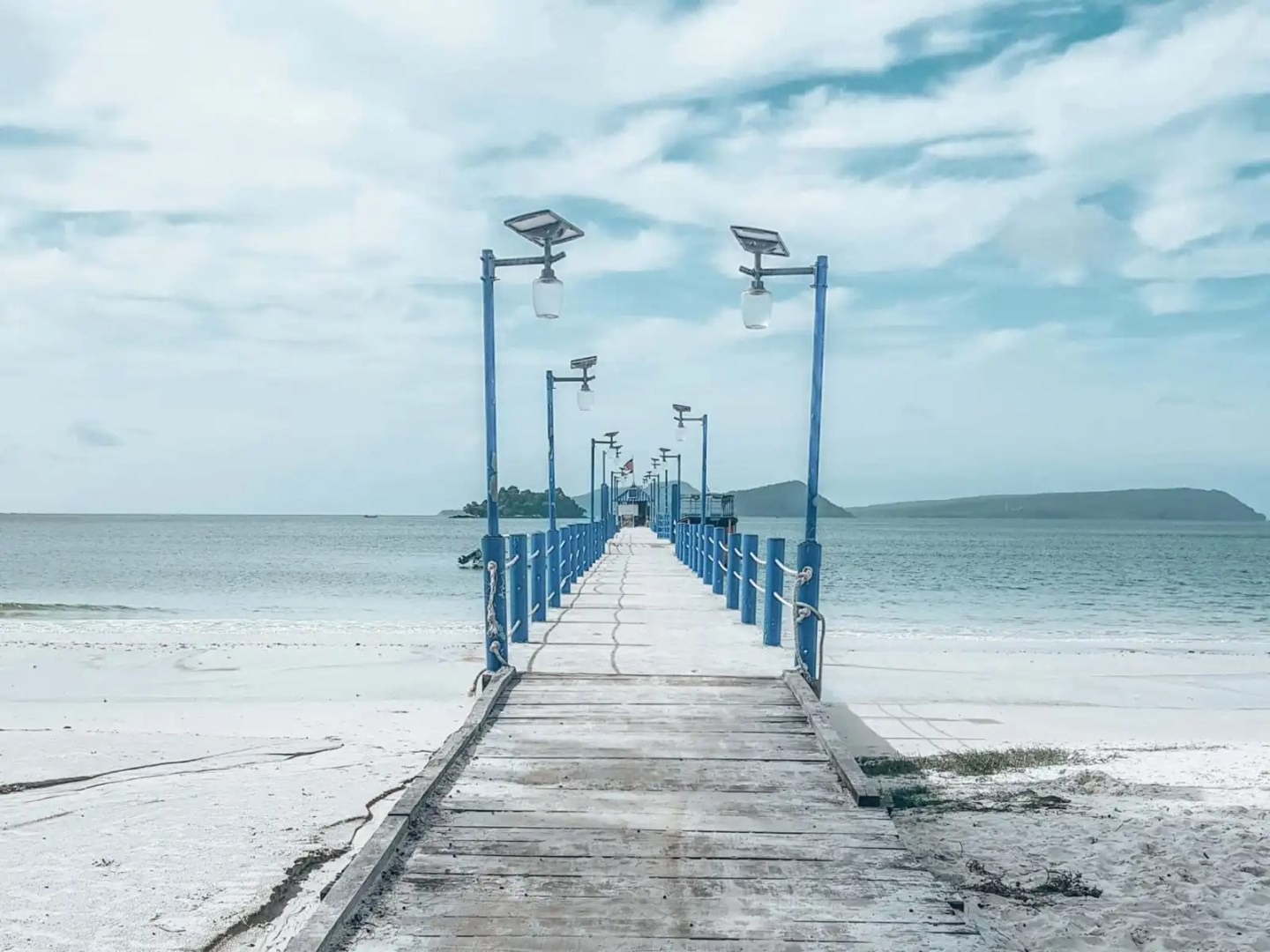 Picture of blue pier in Cambodia
