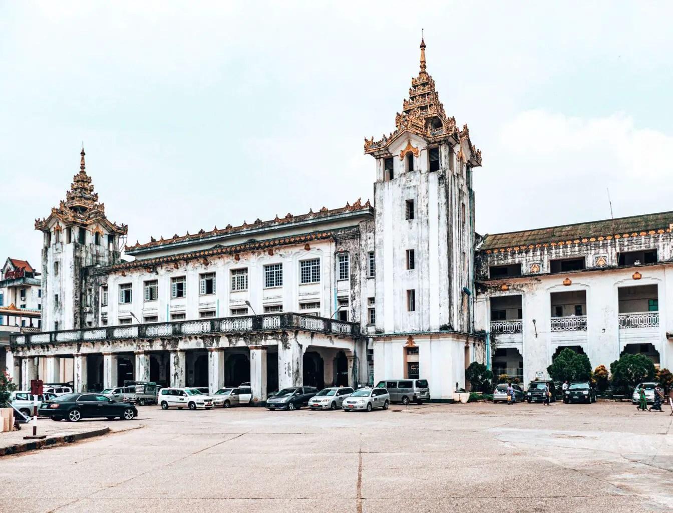 Picture of Yangon train station Myanmar