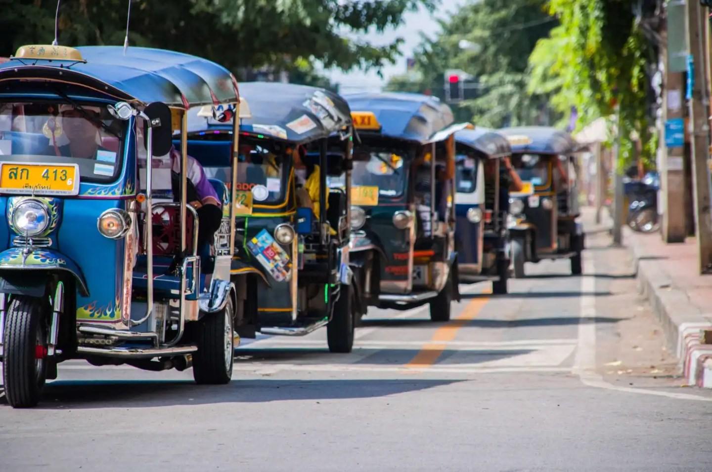 Picture of tuk tuk vehicles in Chiang Mai Thailand