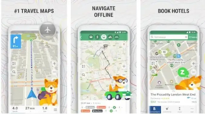 Apps for China - Maps Me offline maps