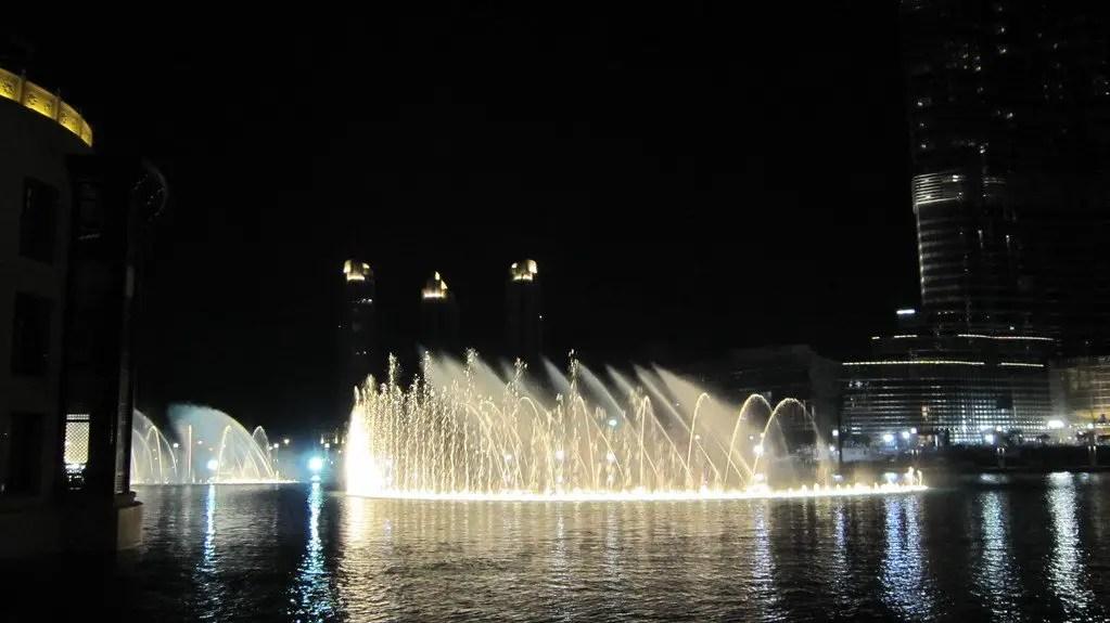 Image of the Dubai fountain show