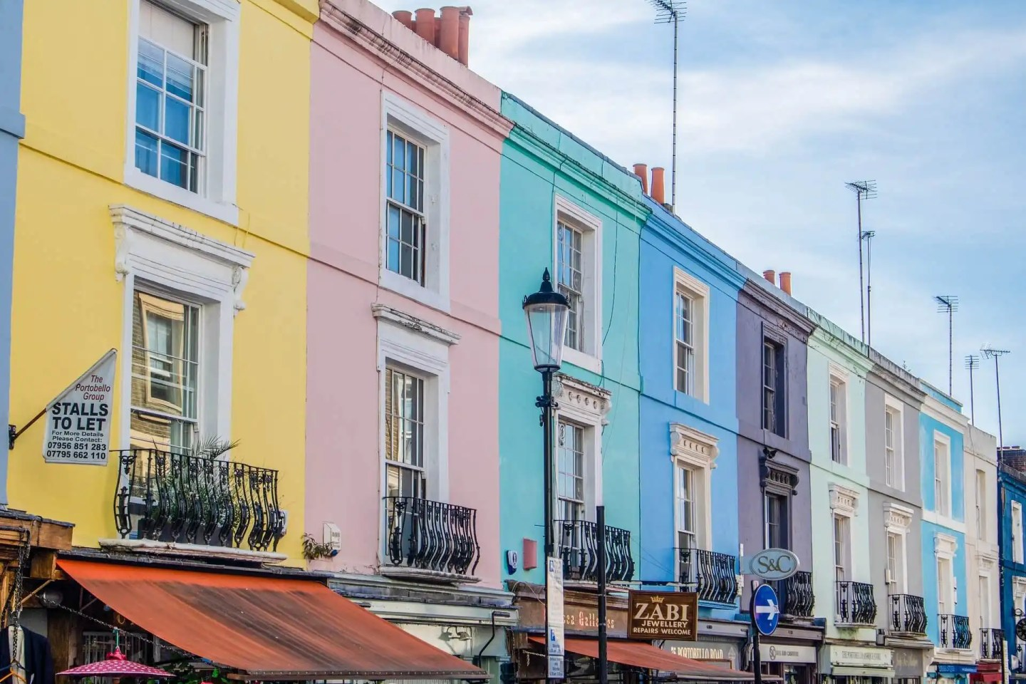 Houses in Portobello Road
