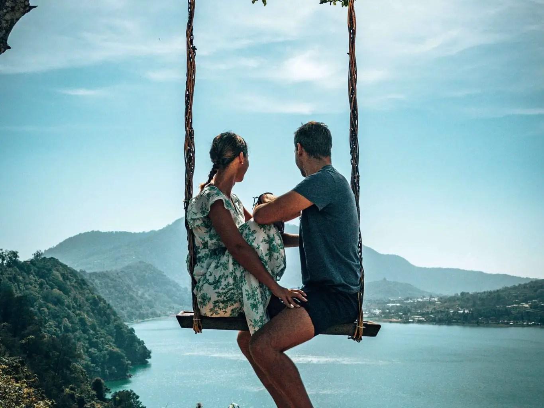 Wanagiri Hidden Hills Swing couple shot