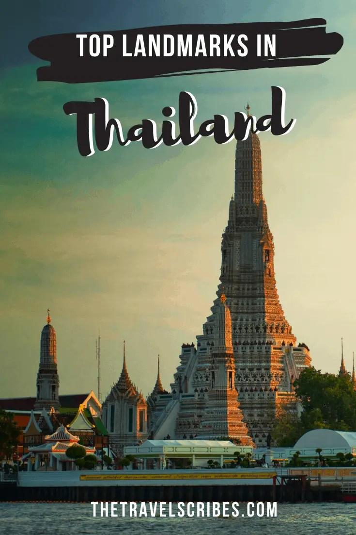 Landmarks in Thailand - pin