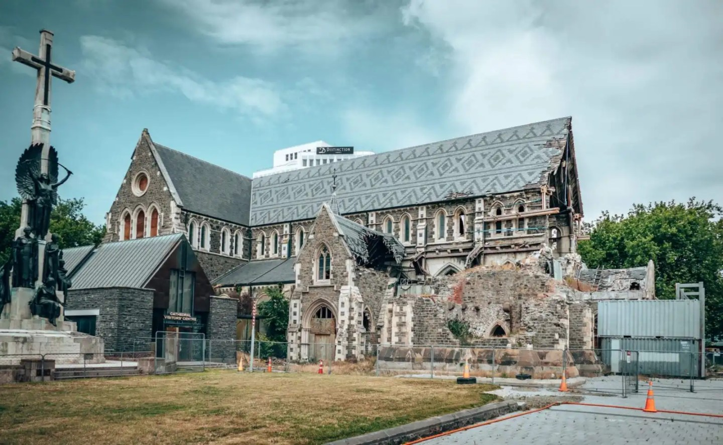 The old Christchurch Cathedral