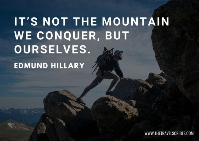Inspirational hiking quote